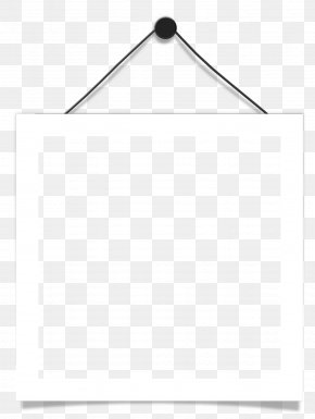 Hanging Frame - Black And White Point Angle PNG