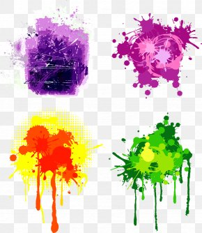 Paint Splash - Color Graphic Design Euclidean Vector Art PNG