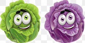 Cartoon Cabbage - Vegetable Cartoon Drawing Clip Art PNG