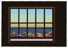 Window - Window Ocean Clip Art PNG