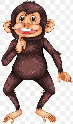 Thinking Gorilla - Ape Bonobo Clip Art PNG