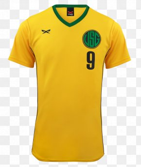 Psd Jersey Soccer - Brazil National Football Team T-shirt 2014 FIFA World Cup Jersey PNG