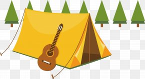 Violin Decoration Vector Material - Camping Summer Camp Tent Illustration PNG