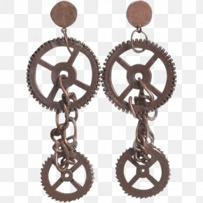 Steampunk Gear - Earring Jewellery Steampunk Clothing Accessories Costume PNG