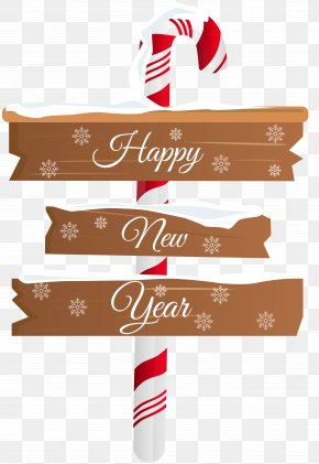 Happy New Year Sign PNG Clip Art - New Year's Day Christmas Clip Art PNG