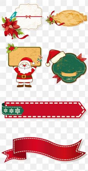 Cartoon Christmas Border Collection - Santa Claus Christmas Decoration Clip Art PNG