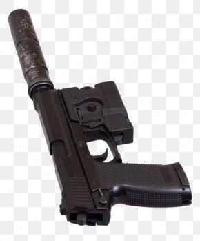 Black Pistol Weapon - Trigger Weapon Firearm Suppressor Pistol PNG