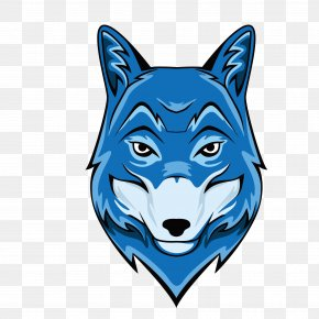 Vector Blue Wolf Head - Gray Wolf Royalty-free Illustration PNG