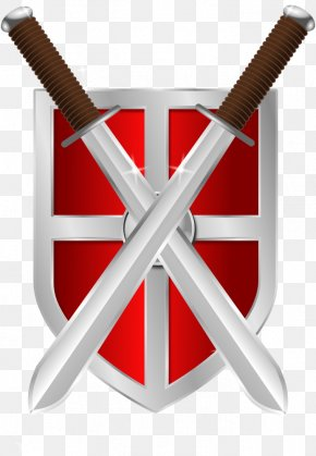 Picture Of A Shield - Shield Sword Clip Art PNG