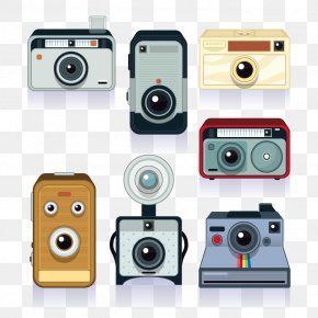 Vector Classic Camera Collection - Camera Polaroid Corporation PNG