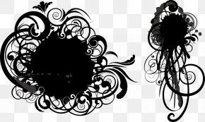 Black Circle Effect - Grunge Circle Pattern PNG