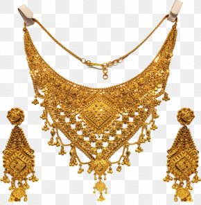 Necklace - Necklace Earring Jewellery Store Gold PNG