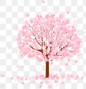 Pink Tree - Tree Cherry Blossom PNG