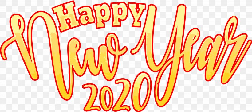 Happy New Year 2020 New Years 2020 2020 Png 3686x1641px