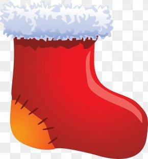 Christmas Red Socks - Christmas Stocking Christmas Gift PNG