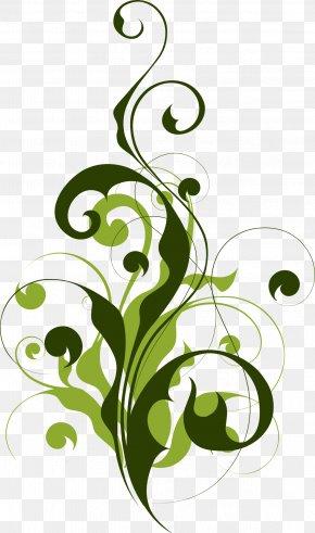 Green Islamic - Floral Design Clip Art PNG
