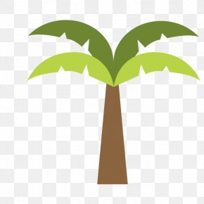 Green Coconut Tree Cartoon Images - Tree Coconut Icon PNG