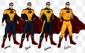 Mars Ravelo - Captain Barbell Lastikman Superhero Comics Art PNG