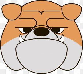 Vicious Dog Face - French Bulldog Cartoon Clip Art PNG