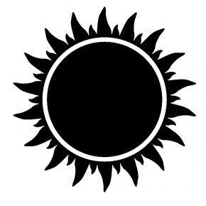 Black And White Sun - Coming Race EasyRead Edition Black Sun Clip Art PNG