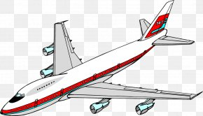 Airplane Cliparts - Airplane Aircraft Boeing 747 Clip Art PNG