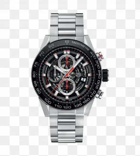 Tag Heuer Watch Black Male Watch - TAG Heuer Automatic Watch Chronograph Movement PNG