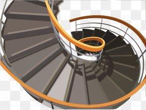European Minimalist Revolving Stairs - Stairs Csigalxe9pcsu0151 Handrail Escalator Elevator PNG