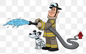 Fireman Sprinkler - Firefighter Cartoon Fire Department Firefighting PNG