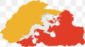 Map - Flag Of Bhutan Map National Flag PNG