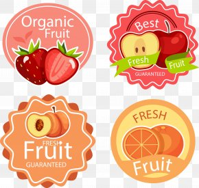 Vector Hand Painted Fruit Label - Label Fruit Sticker Strawberry PNG