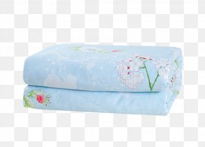 Blue Flowers With Cotton And Summer Cool Material - Textile Mattress Rectangle PNG