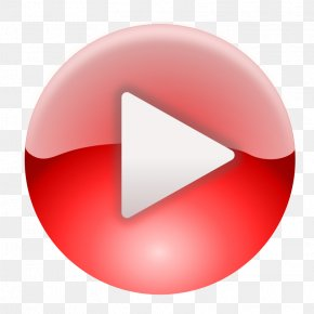 Pink-circle-badge - YouTube Play Button PNG
