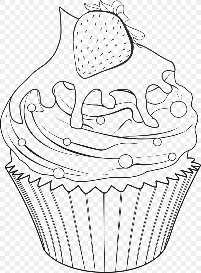 - Delicious Cupcakes Coloring Book Drawing Food, PNG, 1181x1600px