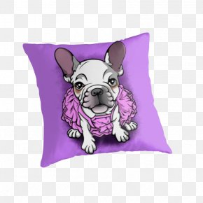 Puppy - French Bulldog Puppy Dog Breed Throw Pillows PNG