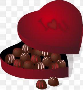 Vector Chocolate Box - Chocolate Truffle Praline Chocolate Bar Valentine's Day PNG