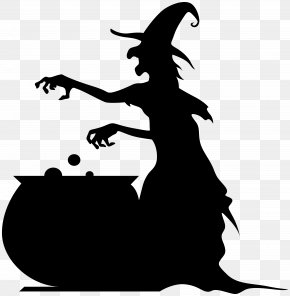 Witch With Cauldron Silhouette Clip Ar - Lossless Compression Image File Formats Computer File PNG