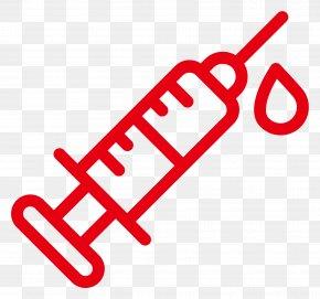 Red Syringe - Syringe Hypodermic Needle Medicine Icon PNG