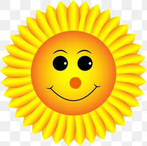 Smile Sunflower - Smiley Emoticon Clip Art PNG
