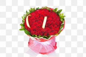 Large Bouquet Of Red Roses - Garden Roses Beach Rose Red Flower Bouquet Nosegay PNG