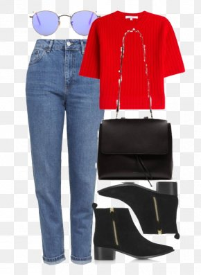 Red Sweater And Jeans - Jeans Sweater Clothing Red Designer PNG