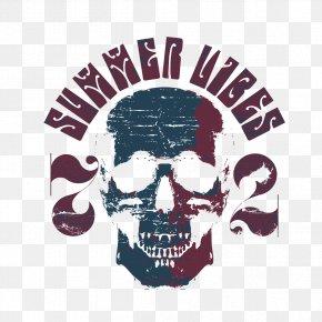 Horror Skull T-shirt - Printed T-shirt Clothing Long-sleeved T-shirt PNG