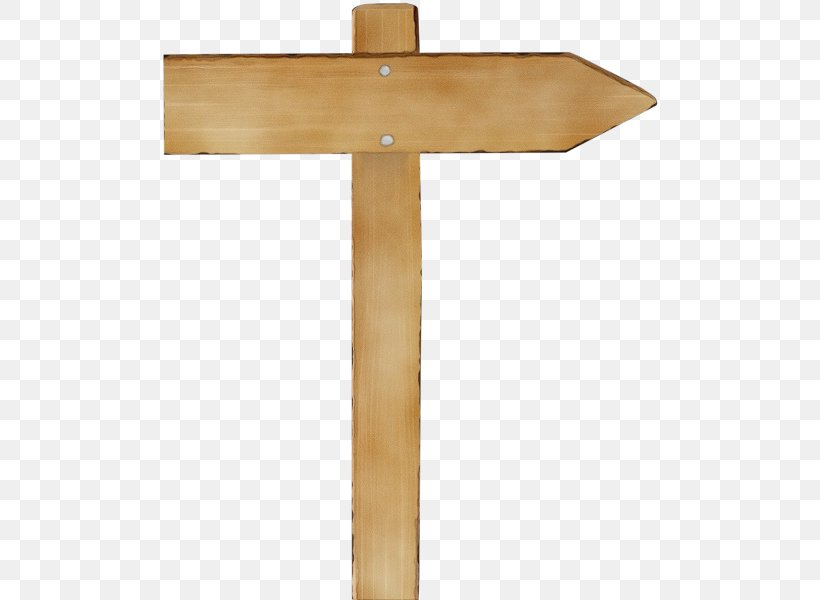 Wood Sign Arrow, PNG, 503x600px, Watercolor, Cross, Furniture, Paint, Religious Item Download Free