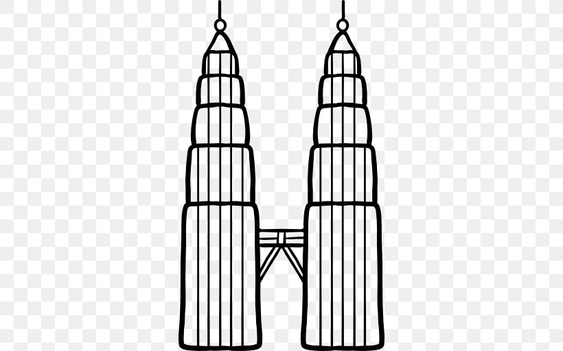 Petronas Towers World Trade Center Drawing Png 512x512px Petronas Towers Black And White Cone Drawing Monochrome