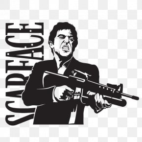 Wall Decal - Al Pacino Tony Montana Scarface Wall Decal Sticker PNG
