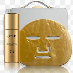 Mask - Facial Mask Gold Skin Face PNG