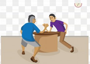 Male Social Worker Fight Wrestling - Arm Wrestling Euclidean Vector PNG