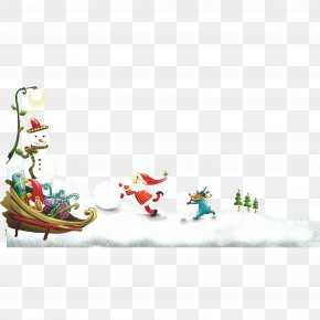 Santa Claus Christmas Snowman Snow - Santa Claus Christmas And Holiday Season Wish PNG