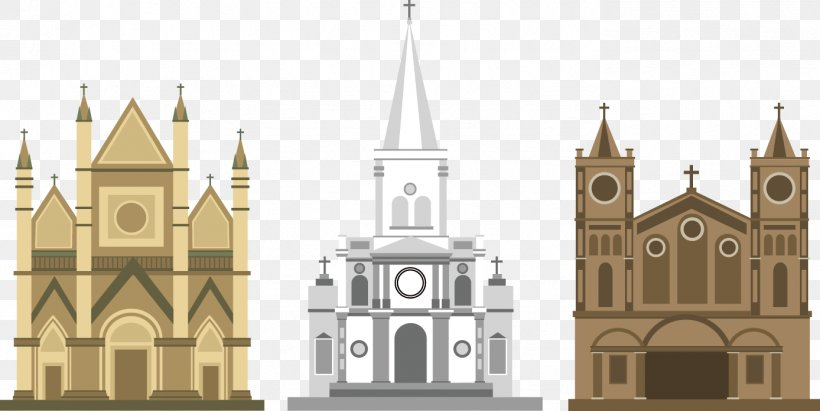 Euclidean Vector Download Icon, PNG, 1388x696px, Cathedral, Abbey, Building, Church, Facade Download Free