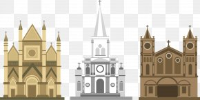 Vector Painted Gothic Architecture - Euclidean Vector Download Icon PNG