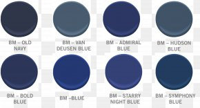 Paint - Benjamin Moore & Co. Blue Color Navy Paint PNG